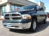2011 Hunter Green Pearl Dodge Ram 1500 SLT Quad Cab 4x4 #63723327
