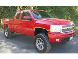 2009 Victory Red Chevrolet Silverado 1500 LTZ Extended Cab 4x4 #63723299
