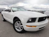 2007 Performance White Ford Mustang V6 Deluxe Convertible #63723211