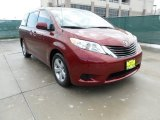 2012 Salsa Red Pearl Toyota Sienna LE #63723517