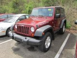 2007 Jeep Wrangler Red Rock Crystal Pearl