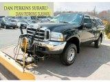 2002 Black Ford F250 Super Duty XLT SuperCab 4x4 #63723122