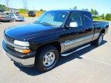 1999 Onyx Black Chevrolet Silverado 1500 LS Extended Cab 4x4 #63723741