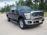 2012 Dark Blue Pearl Metallic Ford F250 Super Duty Lariat Crew Cab 4x4 #63781224