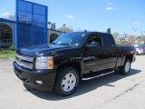 2012 Black Granite Metallic Chevrolet Silverado 1500 LTZ Extended Cab 4x4 #63780454