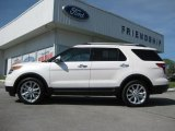 2013 White Platinum Tri-Coat Ford Explorer Limited 4WD #63780432
