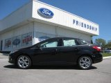 2012 Tuxedo Black Metallic Ford Focus SEL Sedan #63780424