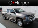 2009 Graystone Metallic Chevrolet Silverado 1500 LT Z71 Crew Cab 4x4 #63781099