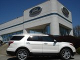 2013 White Platinum Tri-Coat Ford Explorer Limited 4WD #63780358