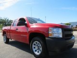 2008 Victory Red Chevrolet Silverado 1500 Work Truck Extended Cab #63780678