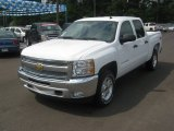 2012 Summit White Chevrolet Silverado 1500 LT Crew Cab 4x4 #63781005