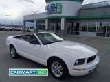 2007 Performance White Ford Mustang V6 Deluxe Convertible #63780896