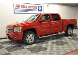 2012 Victory Red Chevrolet Silverado 1500 LTZ Crew Cab 4x4 #63848475