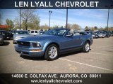2006 Windveil Blue Metallic Ford Mustang V6 Premium Convertible #63848250