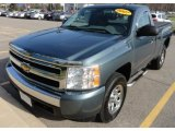 2007 Blue Granite Metallic Chevrolet Silverado 1500 Work Truck Regular Cab 4x4 #63871494