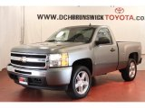 2009 Graystone Metallic Chevrolet Silverado 1500 LT Regular Cab 4x4 #63871656