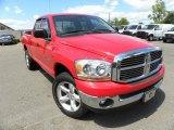 2006 Flame Red Dodge Ram 1500 SLT Quad Cab 4x4 #63871376