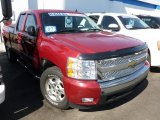 2007 Sport Red Metallic Chevrolet Silverado 1500 LS Extended Cab 4x4 #63871094