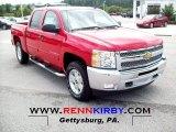 2012 Victory Red Chevrolet Silverado 1500 LT Crew Cab 4x4 #63914183