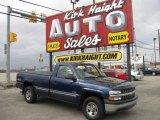 2000 Indigo Blue Metallic Chevrolet Silverado 1500 Regular Cab 4x4 #6379351