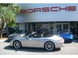 2012 Platinum Silver Metallic Porsche 911 Carrera S Cabriolet #63914138