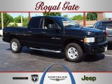 2004 Black Dodge Ram 1500 Laramie Quad Cab 4x4 #63914434
