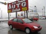 2005 Sangria Red Metallic Ford Focus ZX4 S Sedan #6379358