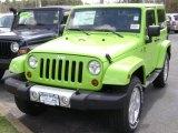 2012 Gecko Green Jeep Wrangler Sahara 4x4 #63913600
