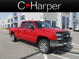 2006 Victory Red Chevrolet Silverado 1500 LS Extended Cab 4x4 #63913599