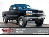 2002 Onyx Black Chevrolet Silverado 1500 LS Extended Cab #63913935