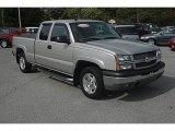 2004 Silver Birch Metallic Chevrolet Silverado 1500 LT Extended Cab 4x4 #63914278