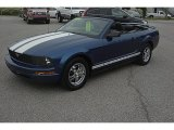 2006 Vista Blue Metallic Ford Mustang V6 Premium Convertible #63914276