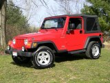 2006 Flame Red Jeep Wrangler Sport 4x4 #63978214