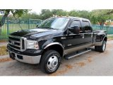 2005 Black Ford F350 Super Duty Lariat Crew Cab 4x4 Dually #63978053