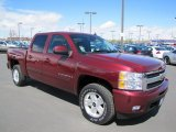 2009 Deep Ruby Red Metallic Chevrolet Silverado 1500 LTZ Crew Cab 4x4 #63978262