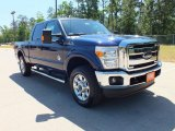 2012 Dark Blue Pearl Metallic Ford F250 Super Duty Lariat Crew Cab 4x4 #64035273