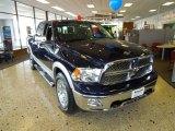 2012 True Blue Pearl Dodge Ram 1500 Laramie Crew Cab 4x4 #64034861