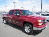 2006 Sport Red Metallic Chevrolet Silverado 1500 Z71 Crew Cab 4x4 #64034786
