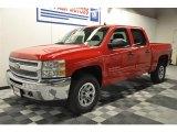 2012 Victory Red Chevrolet Silverado 1500 LS Crew Cab 4x4 #64035135