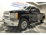 2012 Black Chevrolet Silverado 1500 LS Extended Cab 4x4 #64035130
