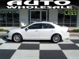 2010 White Platinum Tri-coat Metallic Ford Fusion SEL #64034725