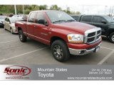 2006 Inferno Red Crystal Pearl Dodge Ram 1500 SLT Quad Cab 4x4 #64034304