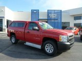 2008 Victory Red Chevrolet Silverado 1500 Work Truck Regular Cab 4x4 #64034564
