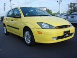 2003 Screaming Yellow Ford Focus ZX5 Hatchback #64100909