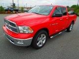 2012 Flame Red Dodge Ram 1500 Big Horn Quad Cab #64100763