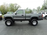 2002 Medium Charcoal Gray Metallic Chevrolet Silverado 1500 LS Regular Cab 4x4 #64100707