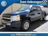 2008 Dark Blue Metallic Chevrolet Silverado 1500 LS Crew Cab #64158001