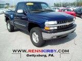 1999 Indigo Blue Metallic Chevrolet Silverado 1500 LS Regular Cab 4x4 #64182808