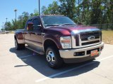 Royal Red Metallic Ford F350 Super Duty in 2010