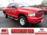 2005 Flame Red Dodge Ram 1500 SLT Quad Cab 4x4 #64188585
